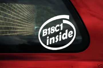 B18C1 inside stickers.For Honda Civic Si,Integra GSR (1)